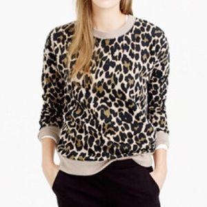 J. Crew Cheetah Print Sweatshirt Size XS